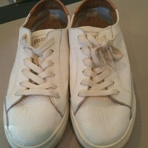 Soludos leather sneakers .Hardly  worn.